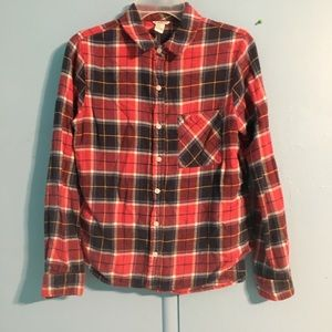 red & blue flannel